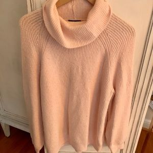 Pink top shop cowl neck sweater